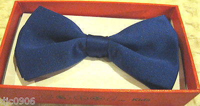KID'S UNISEX SOLID ORANGE COLOR TUXEDO ADJUSTABLE BOWTIE BOW TIE-NEW WITH BOX!