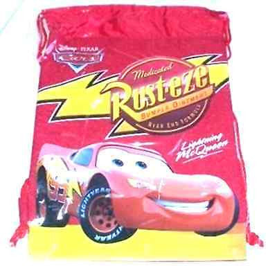 DISNEY LIGHTNING MCQUEEN MEDICATED RUST-EZE DRAWSTRING BAG TRAVEL BACKPACK-NEW!