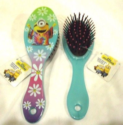 "Despicable Me Minions Stuart (Hippie Minion) 7"" Hair Brush-New!Minion Hair Brush"