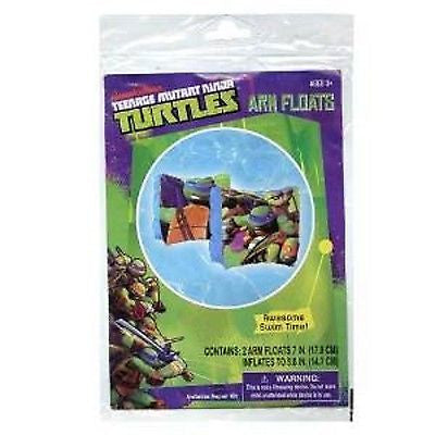"Teenage Mutant Ninja Turtles 7"" Inflatable Arm Floats-Brand New in Package!"