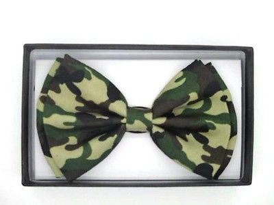 GREEN CAMOFLAGE TUXEDO ADJUSTABLE  BOW TIE BOWTIE-NEW IN GIFT BOX!CAMO BOW TIE