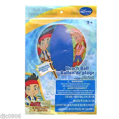 "Disney Jake and the Neverland Pirates 20"" Beach Ball-New in Package!"