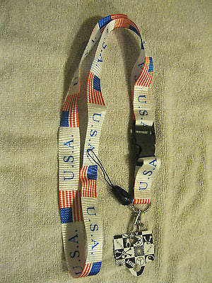 US Flag American Flag Suspenders & Red,White,Blue Stripes Adjustable Bow Tie-New