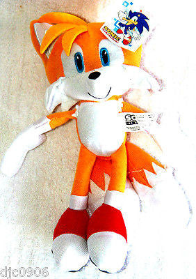 "Sonic the Hedgehog Large Tails Plush 14""-16 Yellow Plush Doll-New with tags!"