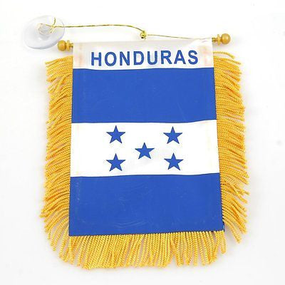 Honduras Flag Honduras Mini Banner-Honduras Mini Flag with Suction Cup-Brand New