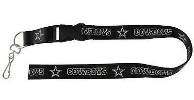 Dallas Cowboys White Blue Letters Licensed Keychain/ID Holder Lanyard-Brand New!