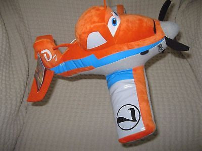 "DISNEY 11"" CROPHOPPER ORANGE PLANE PLUSH TOY-LICENSED STUFFED TOY-DISNEY PLANES"