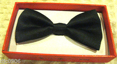 KID'S UNISEX SOLID BLACK COLOR TUXEDO ADJUSTABLE BOWTIE BOW TIE-NEW IN BOX!