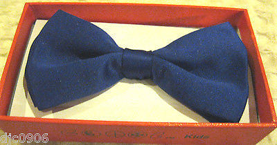 Solid Blue Kids Boys Girls Y-Back Adjustable Bow Tie&Black Kid suspenders-New!