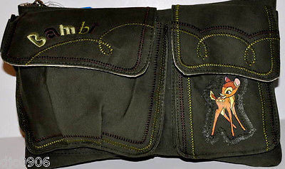 "Walt Disney Bambi Fanny PAck Waist Bag Purse 11""x 7"" Bag-NEW with Tags!"