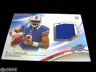 E.J, Manuel RC 2013 Topps Platinum Refractor Like Jersey Patch Rookie Card-Bills