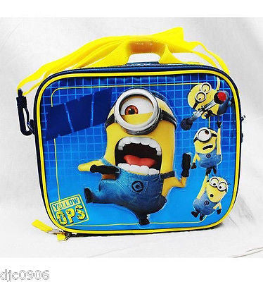 "Despicable Me 2 Minions Rolling 16"" Backpack,14"" &10"" Backpacks & Lunch Box"