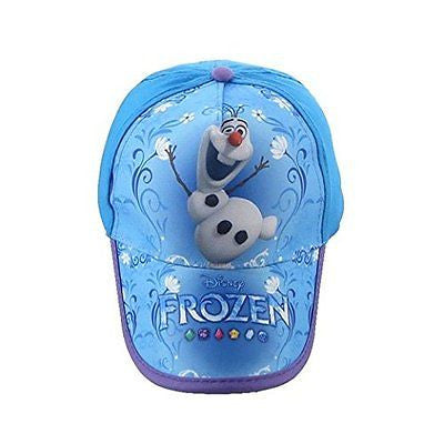 Disney Girls Boys Frozen Elsa's Friend Olaf Blue Adjustable Baseball Cap/Hat