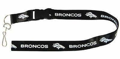 Denver Broncos Blackout Licensed Keychain/ID Holder Lanyard-Brand New!