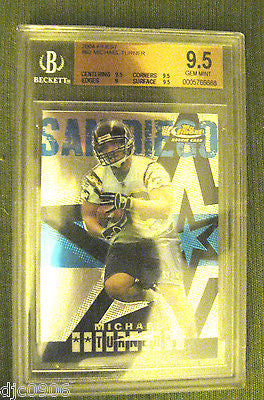 Michael Turner RC 2004 Topps Finest Rookie #62 Beckett Graded GEM MINT BGS 9.5!