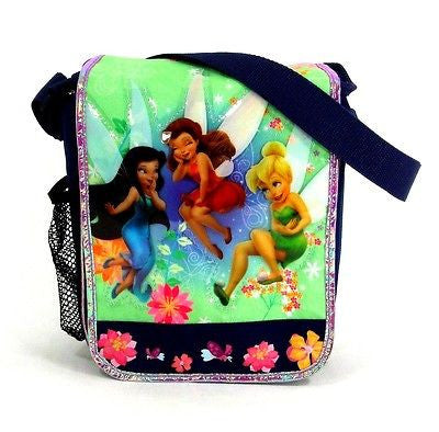 Tinkerbell and Fairies Insulated Messenger Lunch Bag Lunchbox-New!