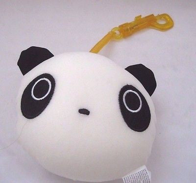 Snow Foam Micro Beads Panda Face Cushion/Pillow Backpack/Purse Clip-Brand New!