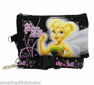 DISNEY TINKERBELL PINK LANYARD WITH DETACHABLE COIN POUCH/WALLET/PURSE-NEW