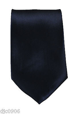 "Unisex Navy Blue Silk Feel Neck tie 56"" L x 3"" W-Dark Blue NeckTie-New"