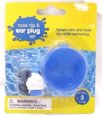 Canopy LTD Safety Nose Clip and Ear Plug Set with Carrying Case-Brand New in Pkg