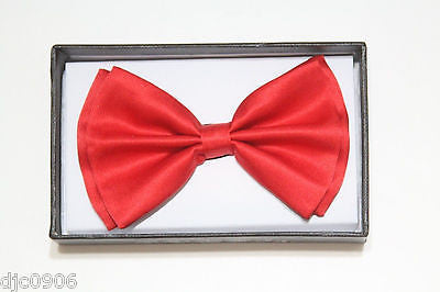 Unisex RED Tuxedo Classic BowTie Neckwear Adjustable Bow Tie-New