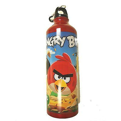 Angry Birds 26 oz Aluminum Water Bottle with Caribiner-Brand New with Tags!
