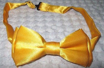 Kids Boys Girls Solid Cream Brown Adjustable Bow Tie-Children's Brown Bow tie