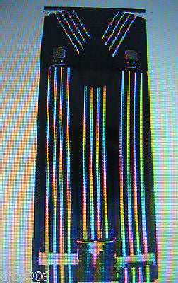 "Thick 1 1/2"" RAINBOW GAY PRIDE Y-Style Back suspenders-New in Package!"