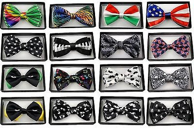 BLACK WITH WHITE TIPS ADJUSTABLE  BOW TIE BOWTIE-NEW!IBLACK WHITE 2 TONE BOW TIE