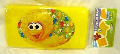 Sesame Street Big Bird Infant Cap,Bottle,Pacifier,and Wipers Travel Case-New!
