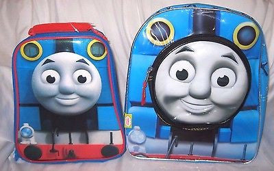 "Thomas the Train 12"" Backpack by Hit Entertainment + matching lunch box combo"