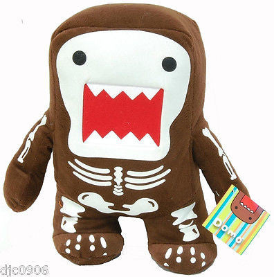 "Domo Kun 7"" Skeleton Plush Stuffed Toy-Domo Kun Skull Plush-Domo Kun Plush-New!"