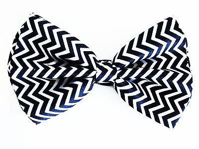 BLACK WHITE ZING ZANG TUXEDO ADJUSTABLE BOWTIE BOW TIE-NEW!BLACK WHITE BOW TIE