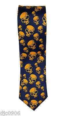"Unisex Black w/ Multi Color Skulls Neck tie 56"" L x 2"" W-Multi Color Skulls Tie"