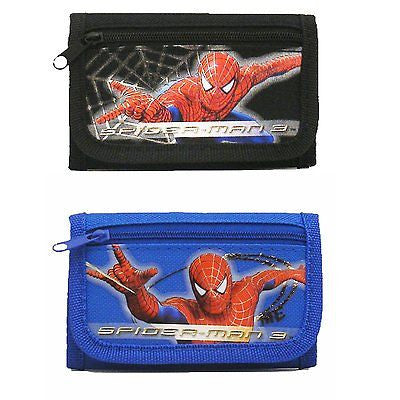 Spider-man 3 Wallets (2 Wallets) Combo-spiderman blue and black wallets-New!