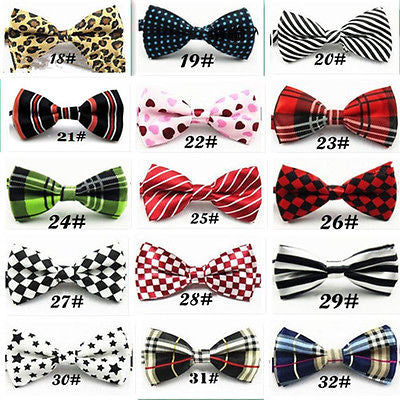 Tuxedo PreTied White Black Checkered Bow Tie Satin Adjustable Bowtie Bow Tie-New