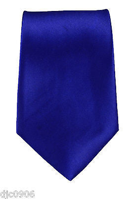 "Unisex Royal Blue Silk Feel Neck tie 56"" L x 3"" W-Dark Blue NeckTie-New"