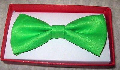 Kids Boys Girls Children Solid White Adjustable Bow Tie-Children's White-New!