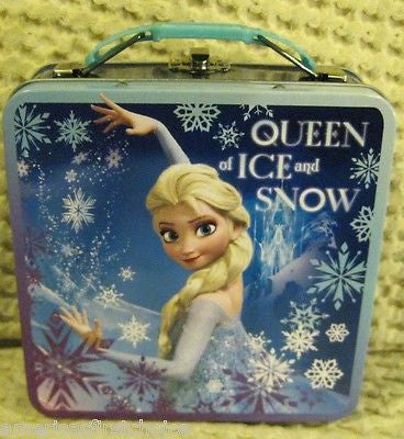 Disney Frozen Elsa Queen of Ice and Snow Designer Tin Purse Carrying Case-New!
