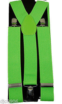 "THICK 1 1/2"" GREEN ARMY CAMO CAMOUFLAGE Adjustable Y-Style Back suspenders-New!"