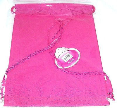 Disney Pink Rapunzel Tangled Licensed Kid's Drawstring Backpack Tote Gym Bag-New