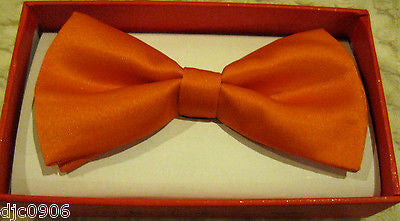 Orange Kids Boys Girls Y-Style Back Adjustable Bow Tie & White Kid suspenders-