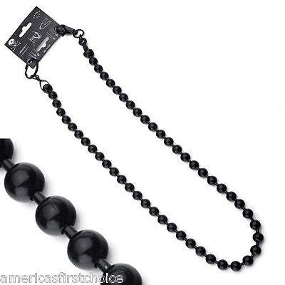 "12"" BLACK SHOT BEADS WALLET JEAN CHAIN HIP HOP PUNK KEYCHAIN-BIKER CHAIN-NEW"