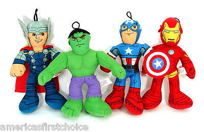 "Captain America Thor Hulk Iron Man The Avengers 9"" Plush Stuffed Toys-New!"