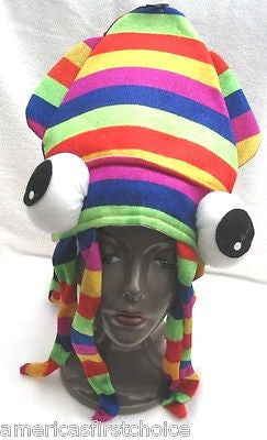 Squid Octopus Hat Rainbow Gay Pride Octopus Adult Fun Silly Hat Cap-Brand New!