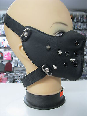 Spike Spiked Black Mask Motorcycle Goth Punk Bondage PaintBall Gothic Metal-New!
