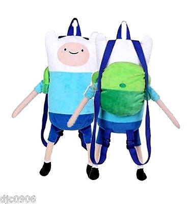 "Adventure Time Finn Mertens 19""-21"" Plush Backpack Tote- NEW with Tags Licensed!"