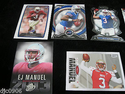E.J, Manuel RC 2013 Bowman,Sage Hit,Topps Platinum,Strata,7 Rookie Card Lot-Bill