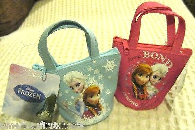 Disney Frozen Anna and Elsa Designer Tin Bucket Handle Purse Carrying Case-New!