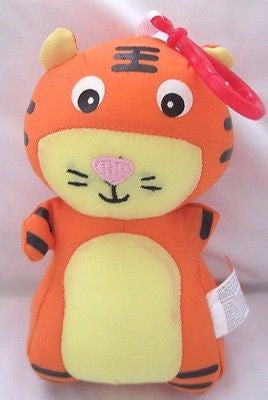 Snow Foam Micro Beads Tiger Cushion/Pillow Backpack/Purse Clip-Brand New!